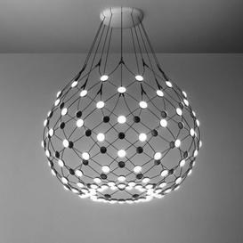 image-Mesh LED Medium Pendant - / Ø 80 x H 60 cm by Luceplan Black