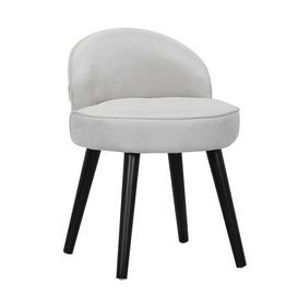 image-Mueller Dressing Table Stool Norden Home Colour: Grey/Black