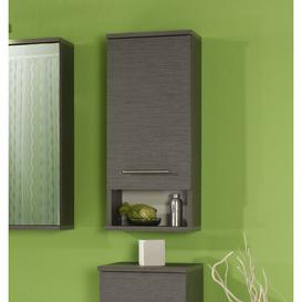 image-Tobin 30 x 71cm Free Standing Bathroom Cabinet Mercury Row Colour/Finish: Dark grey