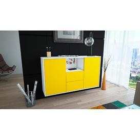 image-Davon Sideboard Brayden Studio Colour (Body/Front): White/Yellow