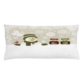 image-Abdurrahman Christmas Snowflake Winter Day Outdoor Cushion Cover Ebern Designs