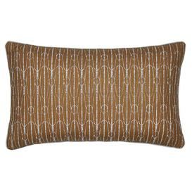 image-Antara Cushion with filling Peacock Blue Hotel Colour: Bronze
