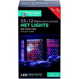image-Premier 360 LED Multi Action Christmas Net Lights - White