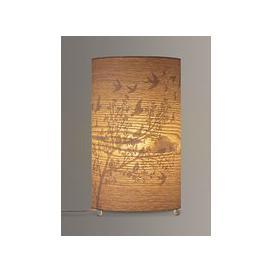 image-John Lewis & Partners Flock Birds Wood Veneer Table Lamp