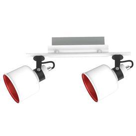 image-Shephard 2-Light Track Kit Mercury Row Shade Colour: White/Red