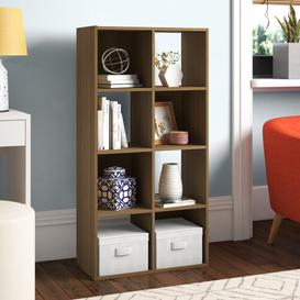 image-8 Cube Storage Display Unit Bookcase Symple Stuff Colour: Oak