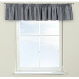 image-Panama Curtain Pelmet Dekoria Size: 260cm W x 40cm L, Colour: Grey/Brown/Blue