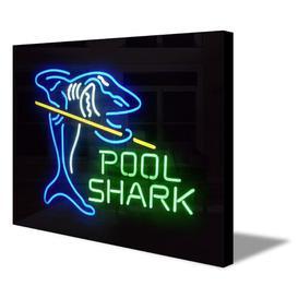 image-Neon Sign Light Pool Shark Home/Wall Decor