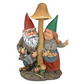 image-Mushroom Hunters Garden Gnome Statue Design Toscano
