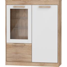 image-Frey Standard Welsh Dresser Mercury Row Colour: Bright Sonoma/White Gloss