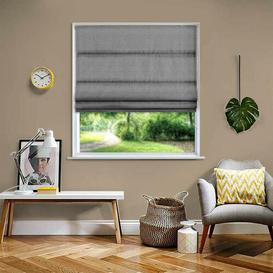 image-Basket Weave Blackout Roman Blind Ebern Designs Size: 60 cm W x 120 cm L, Colour: Grey
