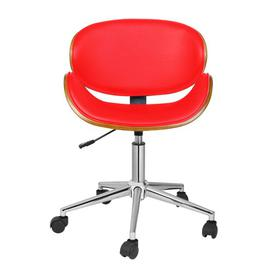 image-Carla Desk Chair Corrigan Studio Colour (Upholstery): Red