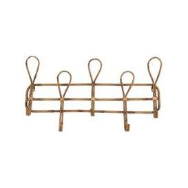 image-5-Hook Metal Faux Bamboo Coat Rack