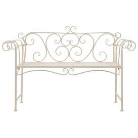 image-Talmadge Steel Bench Sol 72 Outdoor Colour: Antique White