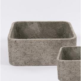 image-Andover Concrete Planter Box Bloomsbury Market Size: 19cm H x 55cm W x 55cm D