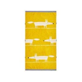 image-Scion Mr Fox Towels, Mustard
