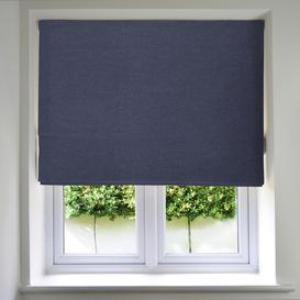 image-Panama Denim Blue Roman Blind, Standard Lining / 265cm x 200cm / Denim Blue
