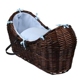 image-Waffle Moses Basket Clair De Lune Colour: Blue, Finish: Dark