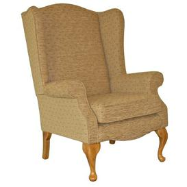 image-Arden Wingback Chair Ophelia & Co. Upholstery: Turin Charoal, Frame Finish: Light Oak