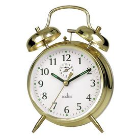 image-Large-Bell Alarm Clock Acctim Finish: Brass