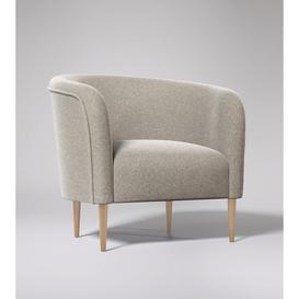 image-Swoon Cecily Armchair in Llama Smart Wool With Light Feet