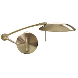 image-Searchlight 9851AB One Light Swing Arm Dimmable Wall Light In Antique Brass