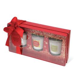 image-3 Piece Christmas Memories Scented Jar Candle Set Tipperary Crystal
