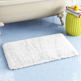 image-Bath Mat Wayfair Basics Colour: White, Size: 100 cm W x 60 cm D