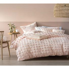 image-Prancing Pom Pom Bed Linen Set in Blush Pink (King Set)