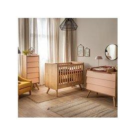 image-Vox Vintage 3 Piece Cot Nursery Set in a Choice of Oak or 5 Pastel Colours - Blue