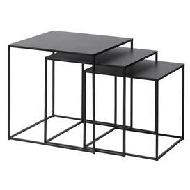 image-Kline Black Metal Nest of 3 Tables