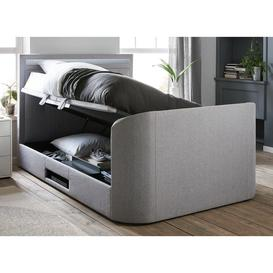 image-Tokyo D Otto TV/Media Bed Grey Fabric SMART TV 4'6 Double