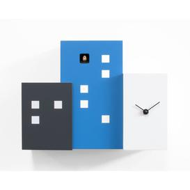 image-Beckner Wall Clock Ebern Designs Colour: Light Blue