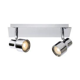 image-Sirene 2-Light Ceiling Spotlight Lucide Fixing colour: Silver
