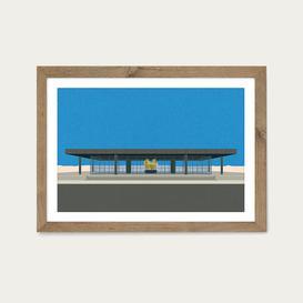 image-Neue Nationalgalerie Art Print Oak Frame