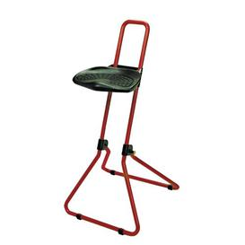 image-Height-adjustable office stool Symple Stuff Frame Colour: Red