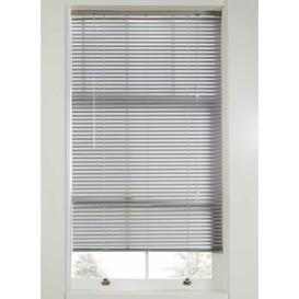 image-Plain Room Darkening Venetian Blind Ebern Designs Size: 160 cm L x 60 cm W, Finish: Grey