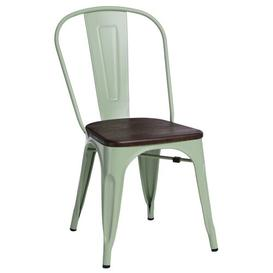 image-Jerome Dining Chair Williston Forge Frame/Seat Colour: Green/Dark Brown