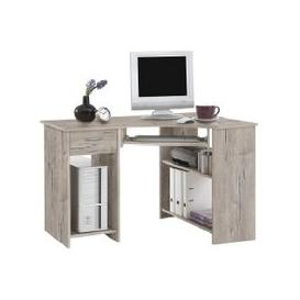 image-Felix Home Office Wooden Corner Computer Desk In Sand Oak