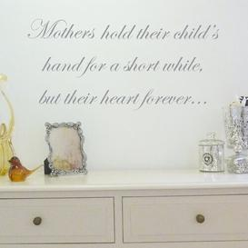 image-Mother Holds Their Child's Hand Wall Sticker East Urban Home Colour: Cream
