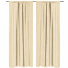 image-Babson Slot Top Blackout Thermal Curtains Marlow Home Co. Size: 140 W x 245 D cm, Colour: Beige