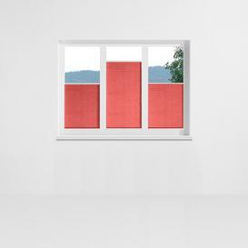 image-Aigue Pleated Blind Symple Stuff Size: 90cm x 130cm, Colour: Salmon pink