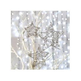 image-Deco Home Small Silver Wire Star Christmas Tree Decoration