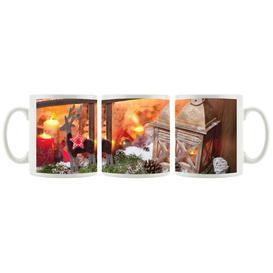 image-Christmas Windowsill Coffee Mug East Urban Home Colour: Red/Orange