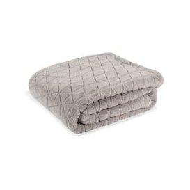 image-Grey Faux Fur Blanket 130x170