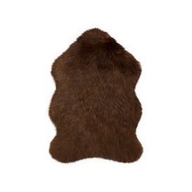 image-Luxury Single Pelt Faux Fur Rug Brown