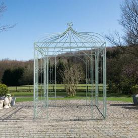 image-3.05m x 2.02m x 2.02m Pergola Fleur De Lis Living Colour: Green antique