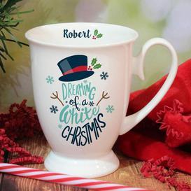 image-Personalised White Christmas Marquee Mug