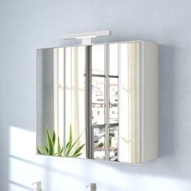 image-Keomi 70cm x 69cm Surface Mount Mirrored Cabinet Belfry Bathroom