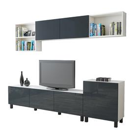 "image-Kessel Entertainment Unit for TVs up to 70\"" Brayden Studio Colour: Anthracite/White"